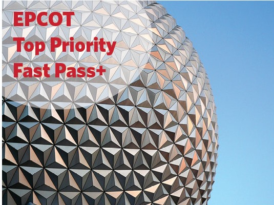 Top Priority Fast Pass for Epcot