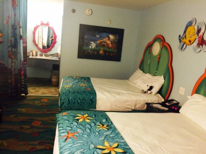 art of animation Little Mermaid hotel room